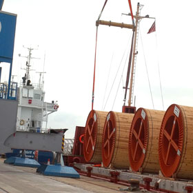 cable reels - port of southampton