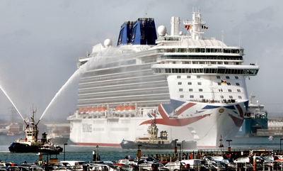 A royal welcome for Brittania to Southampton, march 2015