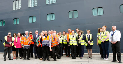 the cruise team wishes nigel well at his retirement from the port of southampton