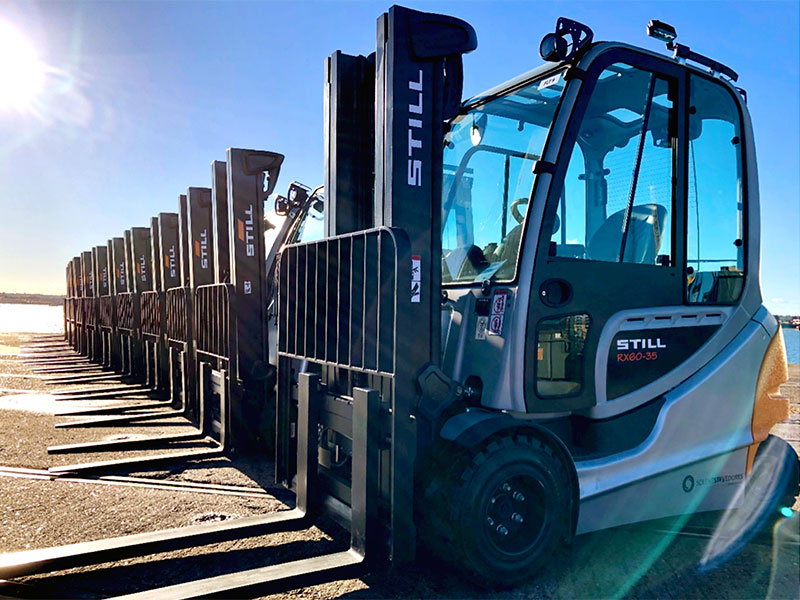 STILL electric fork lifts at Port of Southampton