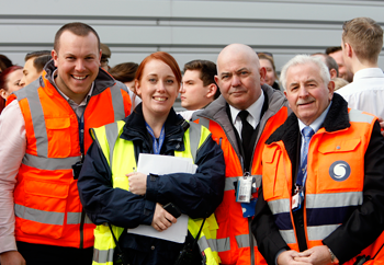 solent stevedores team - brittania visit march 2015